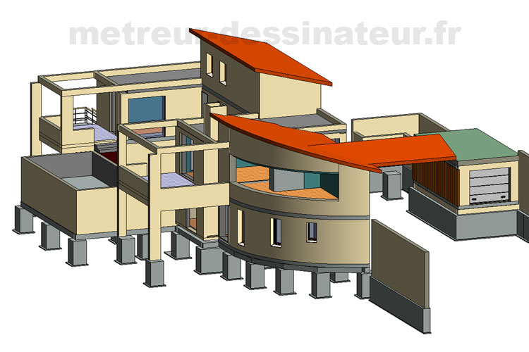 A1 Conception modélisation bâtiment architecture toulouse Haute-Garonne Midi-Pyrénées 31