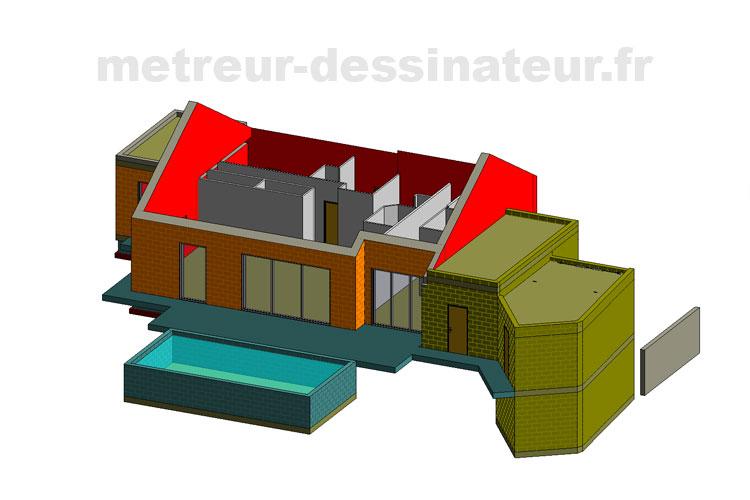 A1 Permis de construire estimation de prix maison individuelle Toulouse Haute-Garonne Midi-Pyrénées 31