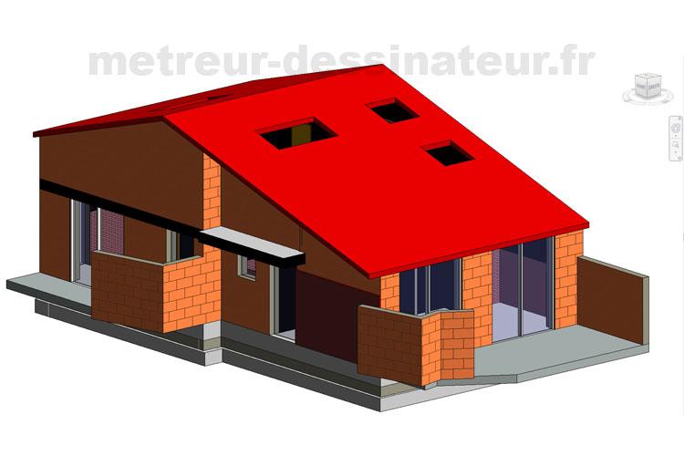 A3 Conception modélisation villa Toulouse Haute-Garonne Midi-Pyrénées toulouse 31
