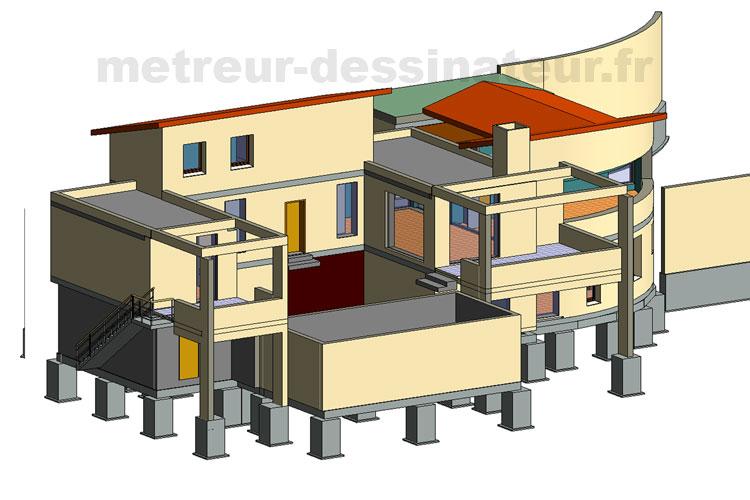 B1 Conception modélisation villa architecturale Toulouse Haute-Garonne Midi-Pyrénées toulouse 31