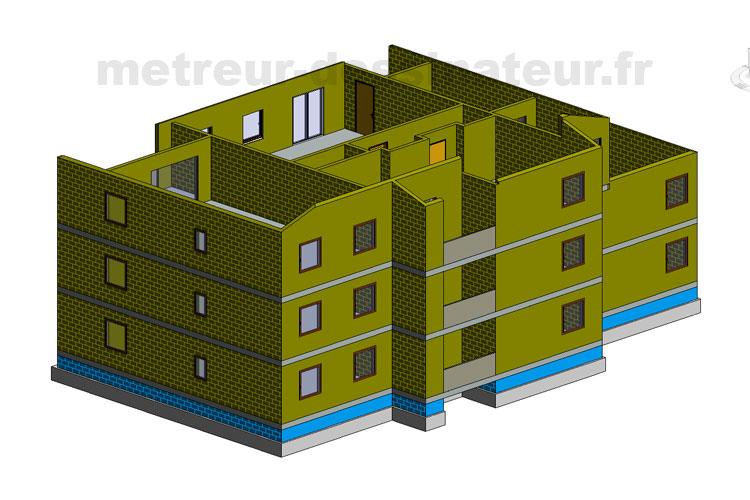 B2 Métré estimation étude de prix bâtiment BBC basse consommation Toulouse Haute-Garonne Midi-Pyrénées 31
