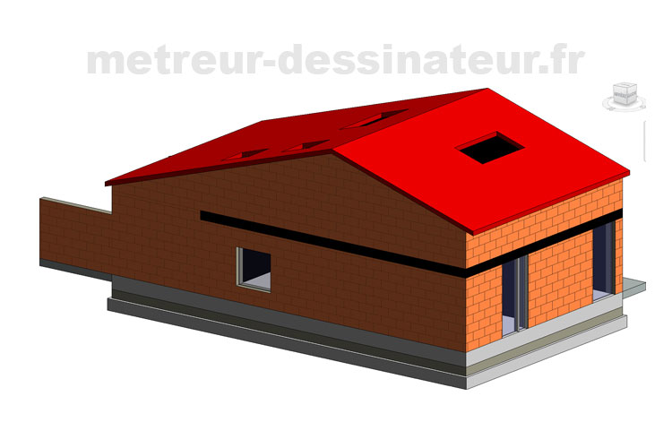 B4 Conception modélisation maison individuelle RT 2012 Toulouse Haute-Garonne Midi-Pyrénées toulouse 31