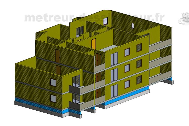 B4 Métré estimation étude de prix bâtiment gros oeuvres Toulouse Haute-Garonne Midi-Pyrénées 31