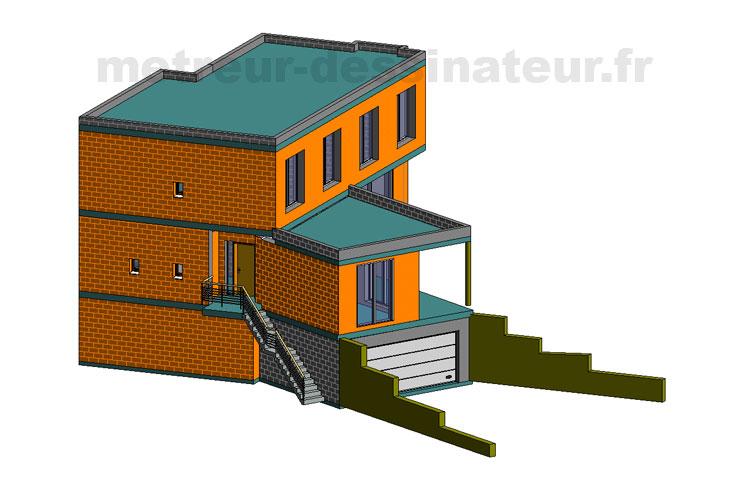 B5 Conception modélisation maison moderne Toulouse Haute-Garonne Midi-Pyrénées toulouse 31