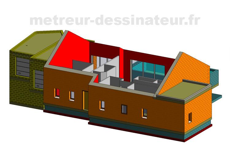 B5 Permis de construire construction rénovation villa Toulouse Haute-Garonne Midi-Pyrénées 31
