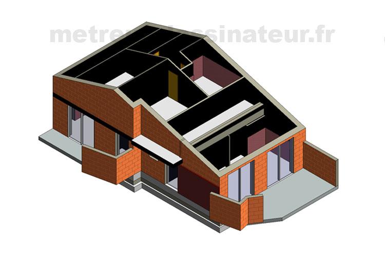 B7 Conception modélisation maison individuelle Toulouse Haute-Garonne Midi-Pyrénées toulouse 31