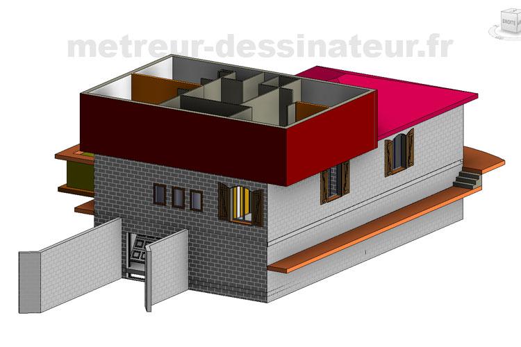 B9 Conception modélisation maison individuelle passive Toulouse Haute-Garonne Midi-Pyrénées toulouse 31